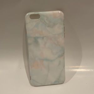 * Marble iPhone 6s PLUS case - blue and pink